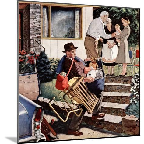 """Visiting the Grandparents"", August 3, 1957-Amos Sewell-Mounted Giclee Print"