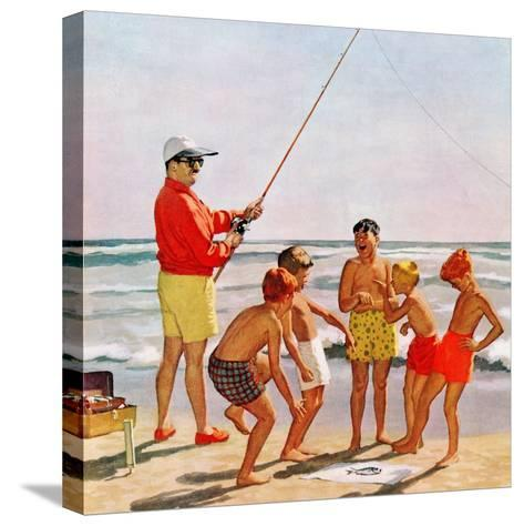 """Big Pole Little Fish"", September 1, 1956-Richard Sargent-Stretched Canvas Print"