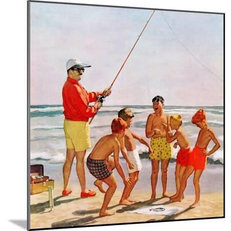 """Big Pole Little Fish"", September 1, 1956-Richard Sargent-Mounted Giclee Print"