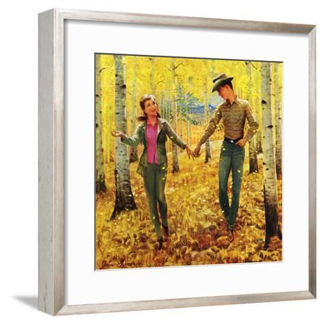 """""""Walk in the Forest"""", October 18, 1952-John Clymer-Framed Art Print"""