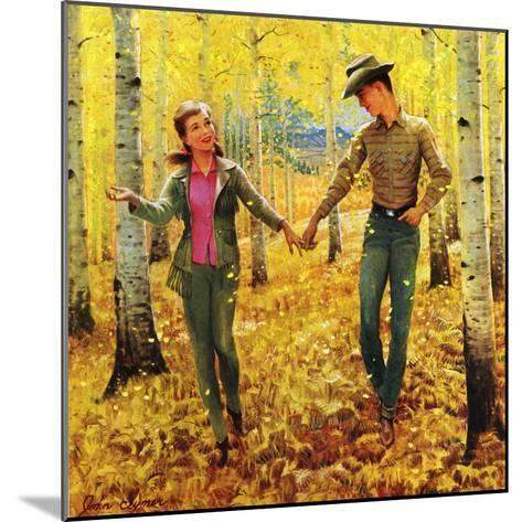 """""""Walk in the Forest"""", October 18, 1952-John Clymer-Mounted Giclee Print"""