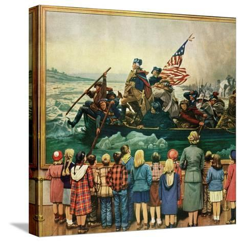 """Washington Crossing the Delaware"", February 24, 1951-Stevan Dohanos-Stretched Canvas Print"
