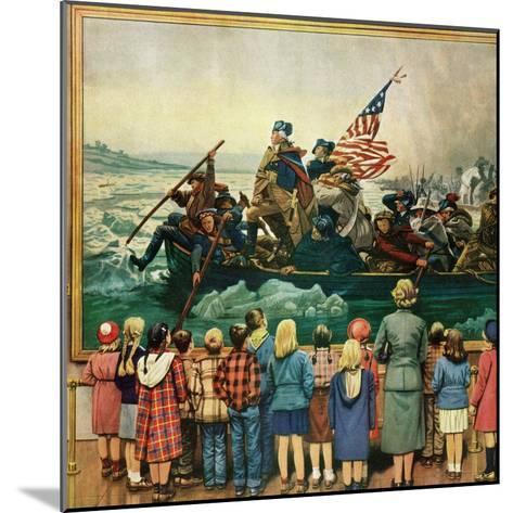 """Washington Crossing the Delaware"", February 24, 1951-Stevan Dohanos-Mounted Giclee Print"
