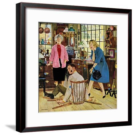 """Broken Antique Chair"", June 20, 1959-John Falter-Framed Art Print"