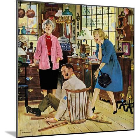 """""""Broken Antique Chair"""", June 20, 1959-John Falter-Mounted Giclee Print"""