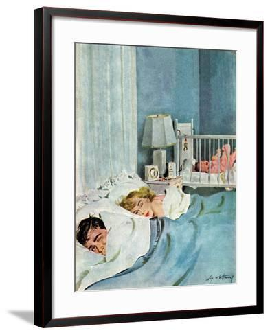 """Who's Turn?"", January 21, 1950-M^ Coburn Whitmore-Framed Art Print"