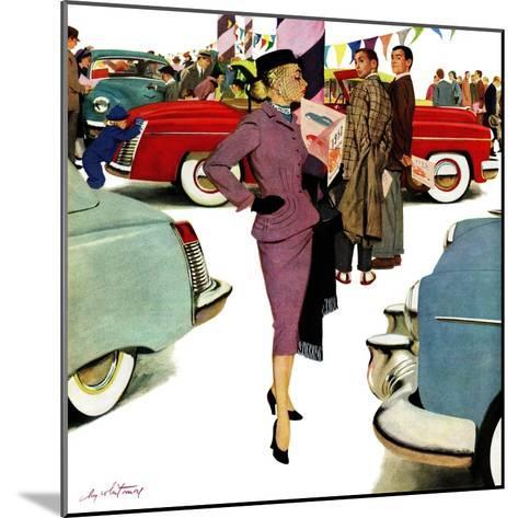 """Woman in Showroom"", January 5, 1952-M^ Coburn Whitmore-Mounted Giclee Print"