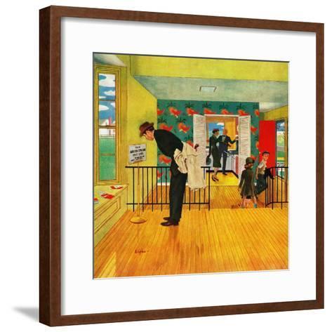 """""""Model Home"""", September 28, 1957-George Hughes-Framed Art Print"""
