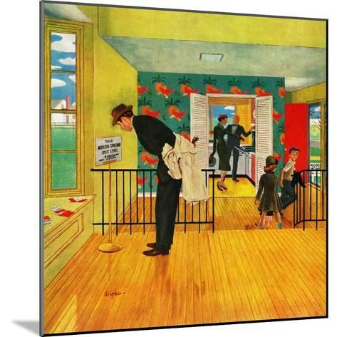 """""""Model Home"""", September 28, 1957-George Hughes-Mounted Giclee Print"""