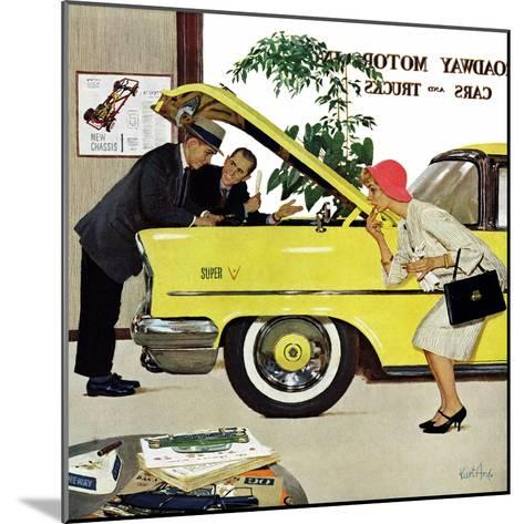 """Checking it Out"", November 15, 1958-Kurt Ard-Mounted Giclee Print"