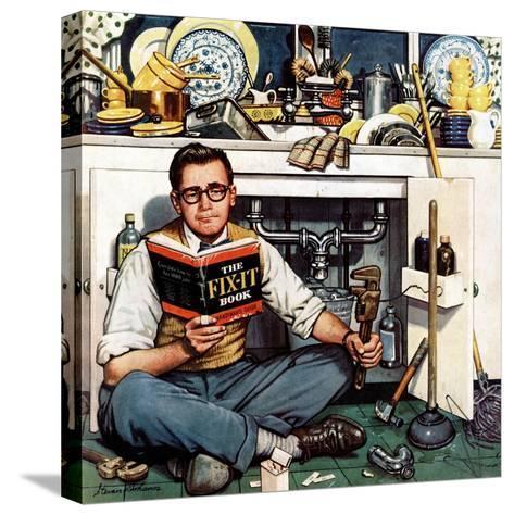 """Mr. Fix-It"", January 14, 1956-Stevan Dohanos-Stretched Canvas Print"