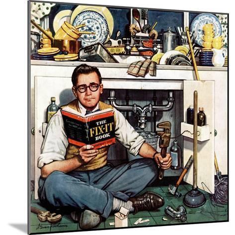 """Mr. Fix-It"", January 14, 1956-Stevan Dohanos-Mounted Giclee Print"
