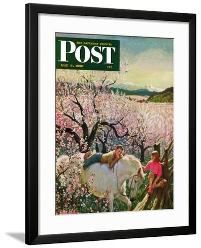 """Apple Blossom Time"" Saturday Evening Post Cover, May 6, 1950-John Clymer-Framed Art Print"