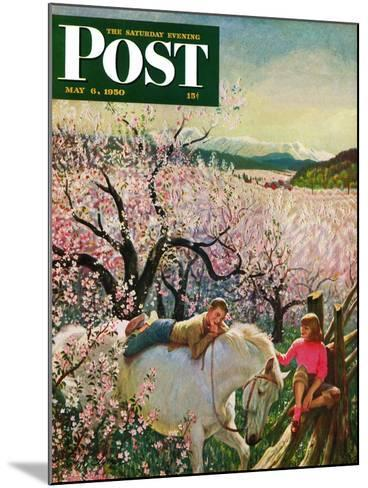 """Apple Blossom Time"" Saturday Evening Post Cover, May 6, 1950-John Clymer-Mounted Giclee Print"
