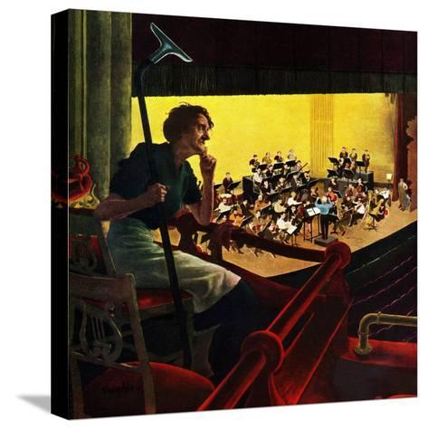 """""""Orchestra Rehearsal"""", January 13, 1951-George Hughes-Stretched Canvas Print"""
