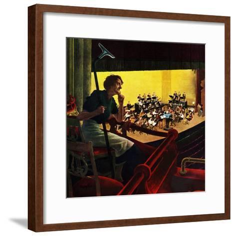 """Orchestra Rehearsal"", January 13, 1951-George Hughes-Framed Art Print"