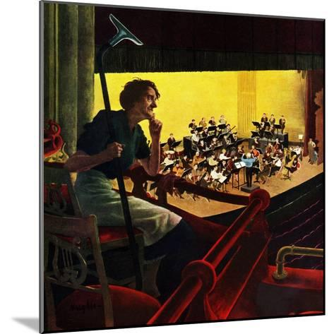 """""""Orchestra Rehearsal"""", January 13, 1951-George Hughes-Mounted Giclee Print"""