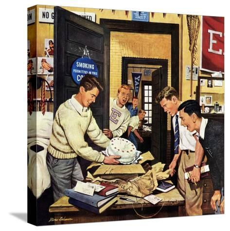 """""""Package from Home"""", February 3, 1951-Stevan Dohanos-Stretched Canvas Print"""