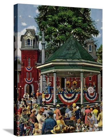 """Patriotic Band Concert"", July 7, 1951-Stevan Dohanos-Stretched Canvas Print"