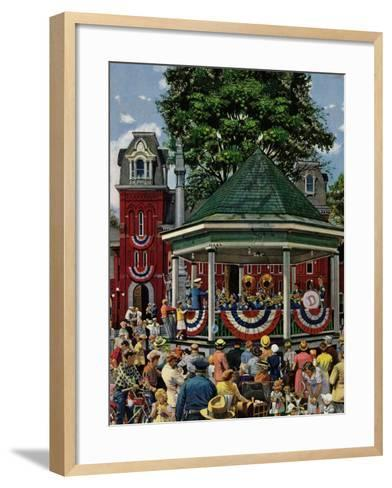 """Patriotic Band Concert"", July 7, 1951-Stevan Dohanos-Framed Art Print"
