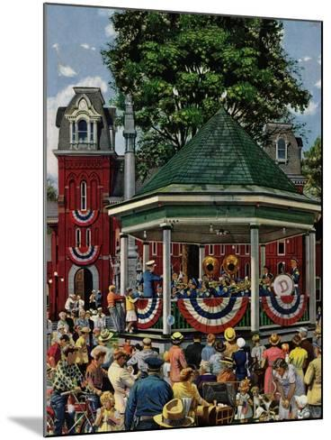 """Patriotic Band Concert"", July 7, 1951-Stevan Dohanos-Mounted Giclee Print"