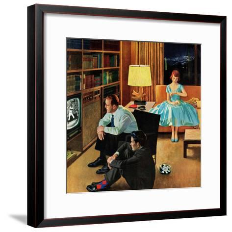 """Date with the Television"", April 21, 1956-John Falter-Framed Art Print"