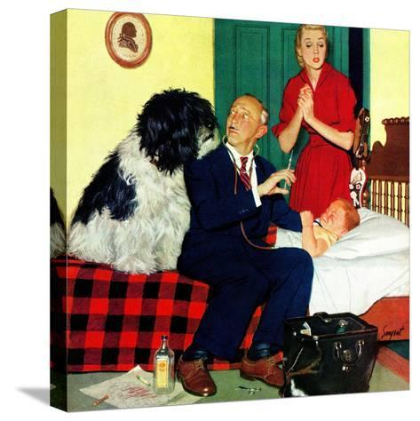 """""""Dr. and the Dog"""", November 21, 1953-Richard Sargent-Stretched Canvas Print"""