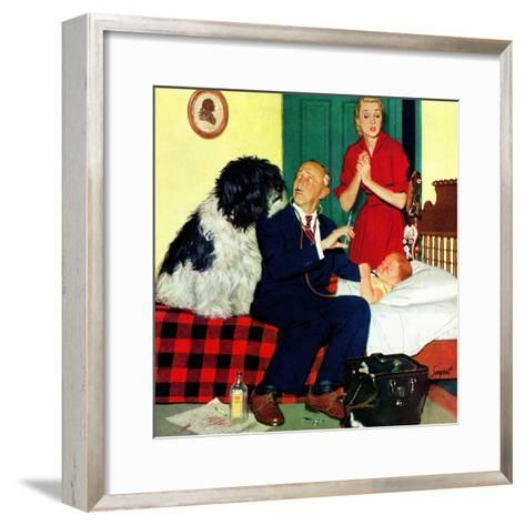 """""""Dr. and the Dog"""", November 21, 1953-Richard Sargent-Framed Art Print"""