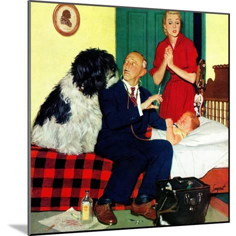 """""""Dr. and the Dog"""", November 21, 1953-Richard Sargent-Mounted Giclee Print"""