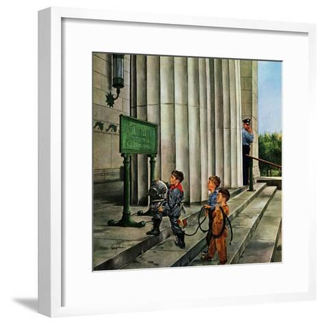 """Public Aquarium"", May 15, 1954-George Hughes-Framed Art Print"