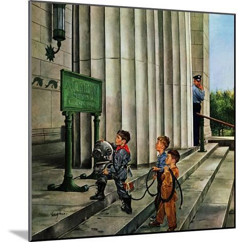 """Public Aquarium"", May 15, 1954-George Hughes-Mounted Giclee Print"