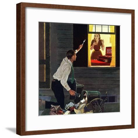 """""""Finding the Fork"""", October 3, 1959-George Hughes-Framed Art Print"""