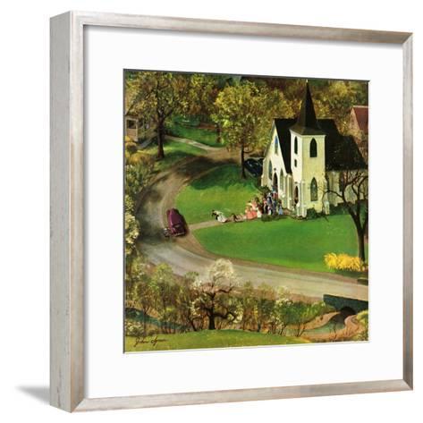 """Rural Wedding"", May 29, 1954-John Clymer-Framed Art Print"