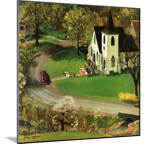 """""""Rural Wedding"""", May 29, 1954-John Clymer-Mounted Giclee Print"""