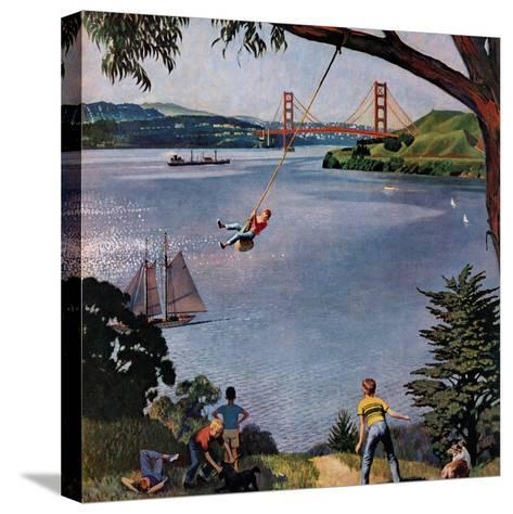 """""""San Francisco Bay Boys"""", May 26, 1956-John Falter-Stretched Canvas Print"""
