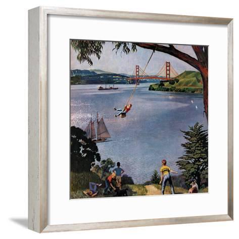 """San Francisco Bay Boys"", May 26, 1956-John Falter-Framed Art Print"