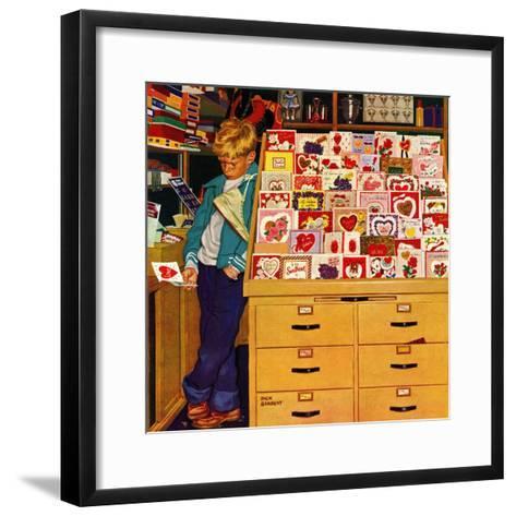 """First Valentine"", February 11, 1956-Richard Sargent-Framed Art Print"