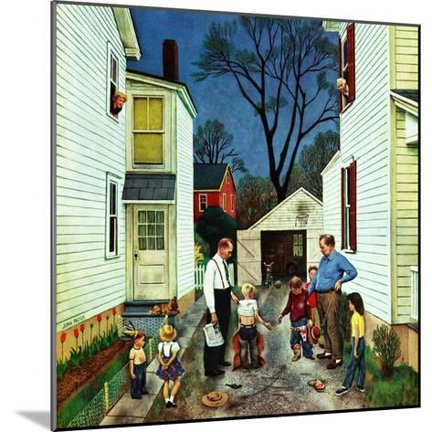 """""""Shaking Hands after the Fight"""", May 5, 1951-John Falter-Mounted Giclee Print"""