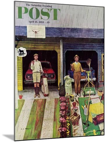 """Saturday Rain"" Saturday Evening Post Cover, April 25, 1959-Earl Mayan-Mounted Giclee Print"