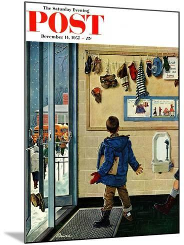 """Lost His Mitten"" Saturday Evening Post Cover, December 14, 1957-Ben Kimberly Prins-Mounted Giclee Print"