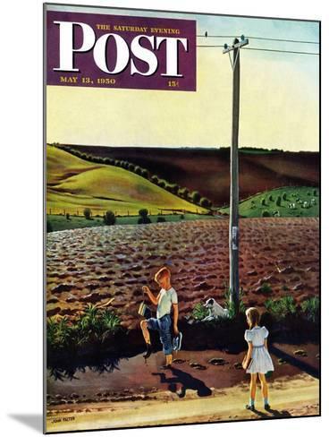 """Muddy Walk Home"" Saturday Evening Post Cover, May 13, 1950-John Falter-Mounted Giclee Print"