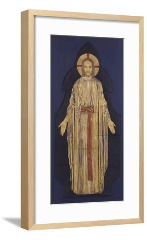 Christ - from a Group of Seven Plaster Bas-Reliefs, for the Park Church, Glasgow-Robert Anning Bell-Framed Art Print
