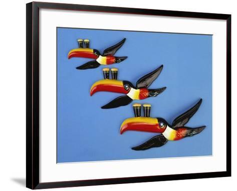 A Set of Three Carltonware Graduated Guinness Advertising Toucan Wall Hangings--Framed Art Print