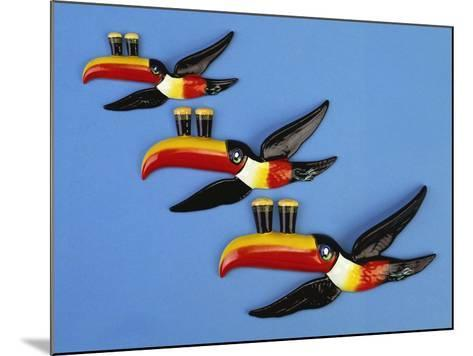 A Set of Three Carltonware Graduated Guinness Advertising Toucan Wall Hangings--Mounted Giclee Print