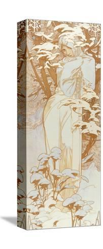 Winter-Alphonse Mucha-Stretched Canvas Print