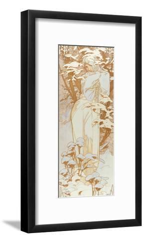 Winter-Alphonse Mucha-Framed Art Print
