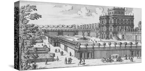 The Garden of Rome; Li Giardini Di Roma-Giovanni Battista Falda-Stretched Canvas Print