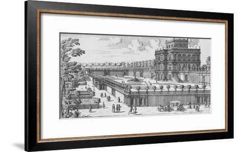The Garden of Rome; Li Giardini Di Roma-Giovanni Battista Falda-Framed Art Print