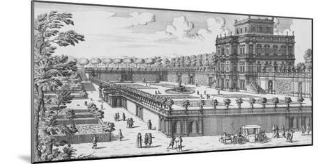 The Garden of Rome; Li Giardini Di Roma-Giovanni Battista Falda-Mounted Giclee Print