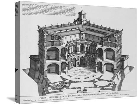 Palazzo Di Caprarola: the Garden of Rome-Giovanni Battista Falda-Stretched Canvas Print